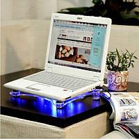 Охлаждающая подставка c 3 кулерами для ноутбука кулер CoolerPad