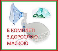 Небулайзер (ингалятор) компрессорный В КОМПЛЕКТЕ маска для ВЗРОСЛЫХ омрон Comp Air Eco (NE-C-302) інгалятор, фото 1