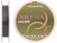 Шнур Favorite Arena PE 4x 100m (silver gray) #0.4/0.104mm 8lb/3.5kg