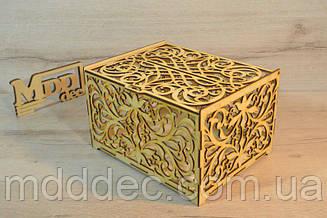 Деревянная коробка для упаковки. Подарочная коробка.Семейный банк.
