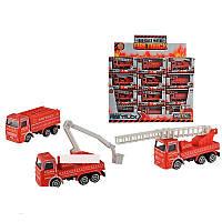 Пожарная машина металло-пластик 3 вида, 2008