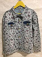 Джинсовая подростковая курточка для девочки