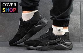 Кроссовки мужские Nike Air Huarache, материал - замша, подошва - пена, черные 41