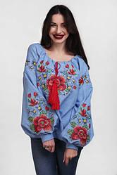 Женская вышиванка цветок Мальва