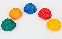 Полусфера массажная балансировочная Balance Kit жесткая FI-7058 (PVC, d-15см, h-7,5см, 280g, цвета в ассортиме