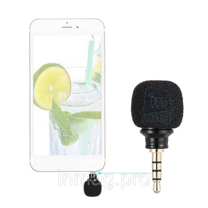 Внешний компактный микрофон Andoer для смартфона, планшета.