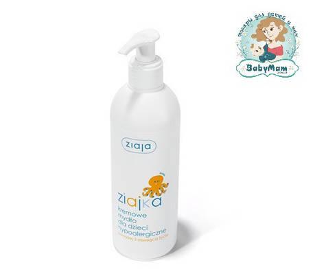 Кремовое гипоаллергенное жидкое мыло для детей Ziajka от 3 мес., 300 мл.