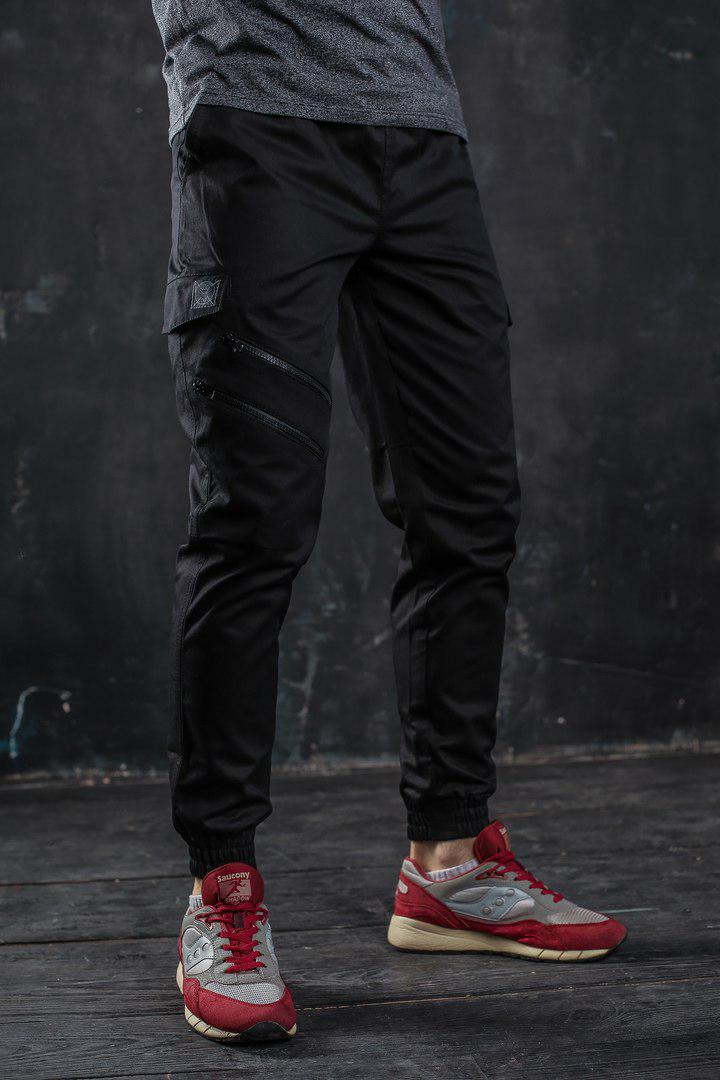 Стильные мужские штаны 6 карманов , резинка внизу