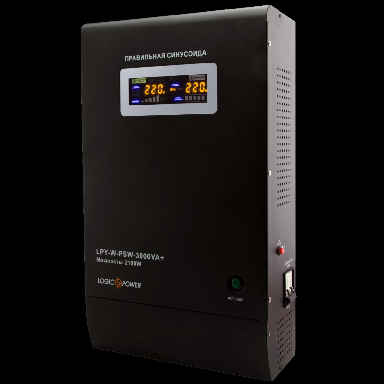 Источник бесперебойного питания Logicpower LPY-W-PSW-3000VA+