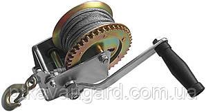 Лебедка рычажная барабанная стальной трос 450 кг INTERTOOL GT1454