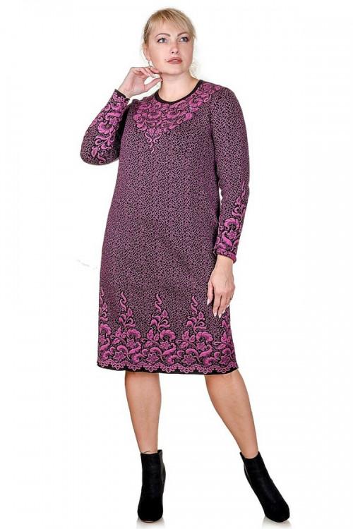 В'язане плаття великого розміру 4730 р 48-58