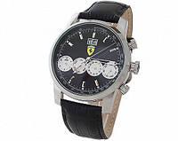 Наручные кварцевые часы Ferrari черные
