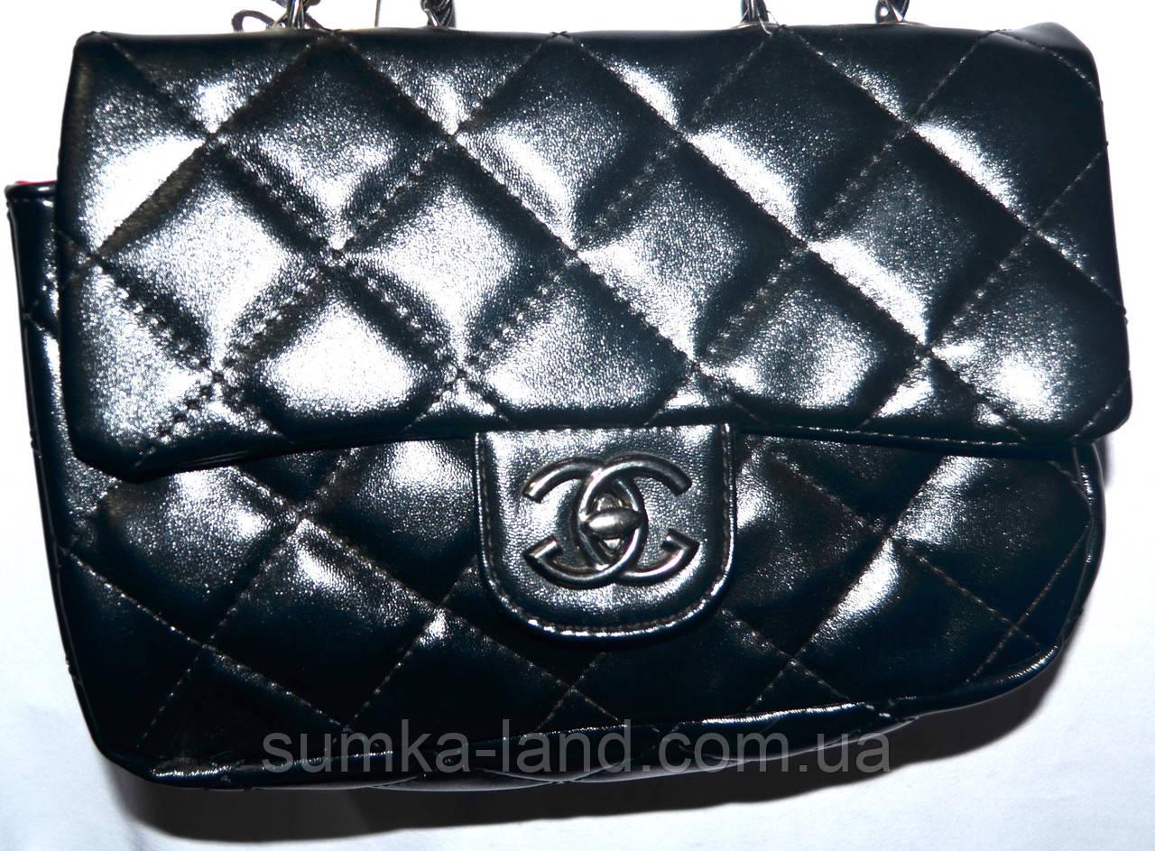 f6ef7e8b65da Женский черный клатч Chanel на цепочке 24 15 см  продажа, цена в ...
