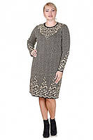 Вязаное платье с узором 4730 р 48-54, фото 1
