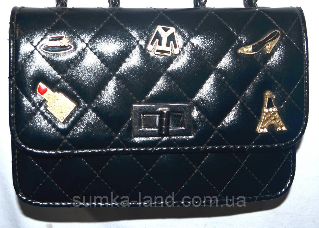5ef153233b7e Женский черный клатч Chanel на цепочке 21 14 см  продажа, цена в ...