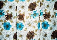 Тюль под  лен с цветами  Китай,  высота 2.8 м