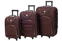 Набор чемоданов Bonro Lux 3 штуки coffee (102401)