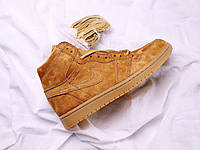 Кроссовки Nike Air Jordan 1 Retro High Wheat найк аир джордан
