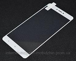 Стекло Xiaomi Redmi Note 4x, белое, Full