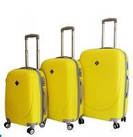 Набор чемоданов Bonro Smile с двойными колесами желтый (110065)