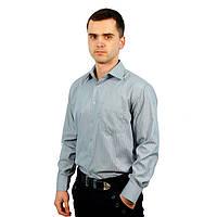 Рубашка мужская (полоска серая) размер 2XL Bossado 07