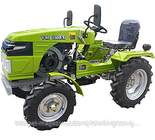Мототрактор дизельный Tata (Витязь) VM-150RX (15 л. с., с электростартером, фреза 1 м + плуг)