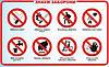 Запрещающие знаки безопасности