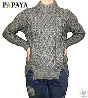 Женский свитер серый Papaya вязанный р. S 42