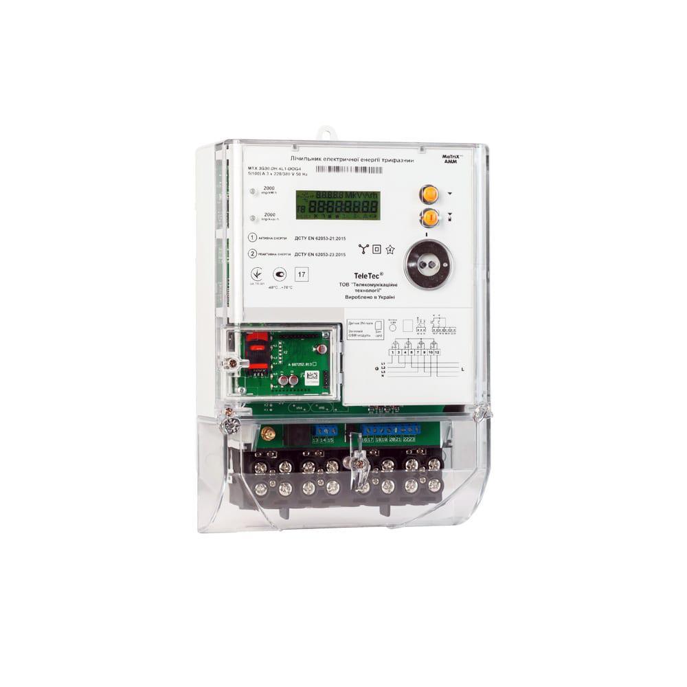 Трехфазный счетчик электроэнергии MTX 3G30.DН.4L1-DOG4