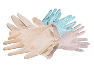 Перчатки одноразовые, латексные, нитриловые, виниловые