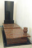Пам'ятник одинарний з червоного граніту