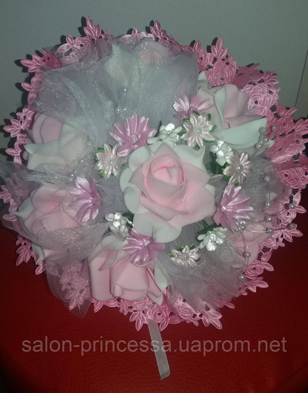 """Свадебный букет-дублёр невесты """"Кружева"""" (розовый) - Свадебный салон """"Принцесса"""" Чернигов в Чернигове"""