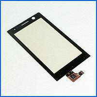 Тачскрин (сенсор) для Sony ST25i Xperia U, черный
