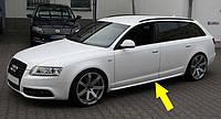Накладки на пороги листва тюнинг обвес Audi A6 C6 стиль S-line