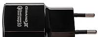 АКЦИЯ! Зарядное устройство Grand-X CH-550B Quickcharge QС3.0 3.6V-6.5V 3A, 6.5V-9V 2A, 9V-12V 1.5A USB Black