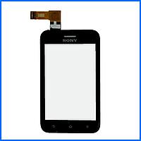 Тачскрин (сенсор) для Sony ST21i Xperia Tipo, ST21i2, черный