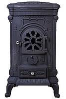 Піч буржуйка чавунна Bonro Black подвійна стінка 9 кВт