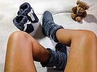 Детские махровые тапочки валянки (сапожки), фото 1