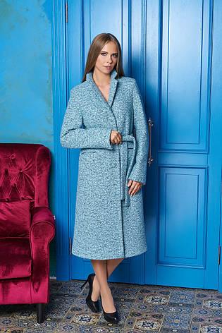 """Жіноче довге пальто на осінь """"Р-1"""" (мінт), фото 2"""