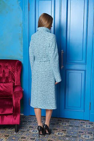 """Женское длинное пальто на осень """"Р-1"""" (минт), фото 2"""