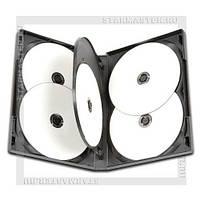 Коробка Бокс для 6 DVD дисков 14mm Black глянцевая пленка