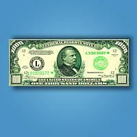 Деньги сувенирные 1000 долларов (пачка 80 шт)