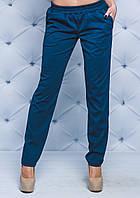 Женские штаны прямые индиго