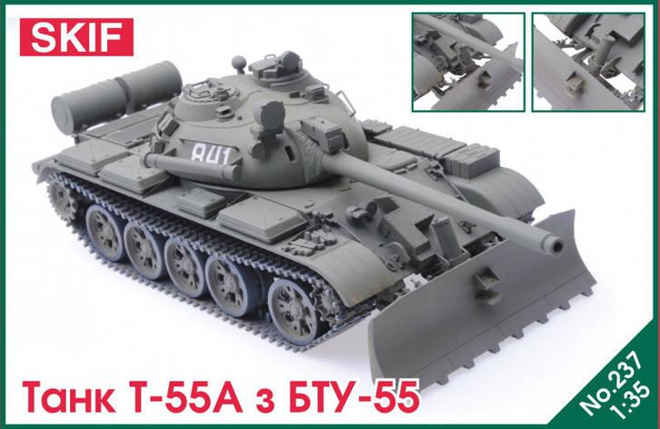 Т-55А с БТУ-55. 1/35 SKIF MK237, фото 2