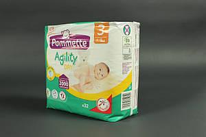 Памперсы Pommette 3 Agility Dry (подгузники 32 шт, 4-9 кг, Франция)