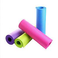 Коврик для йоги - коврик для спорта, фитнеса 8 мм, разные цвета