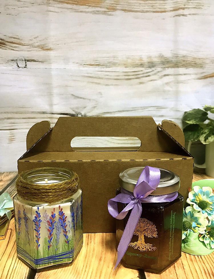 Подарочный набор джем и свеча