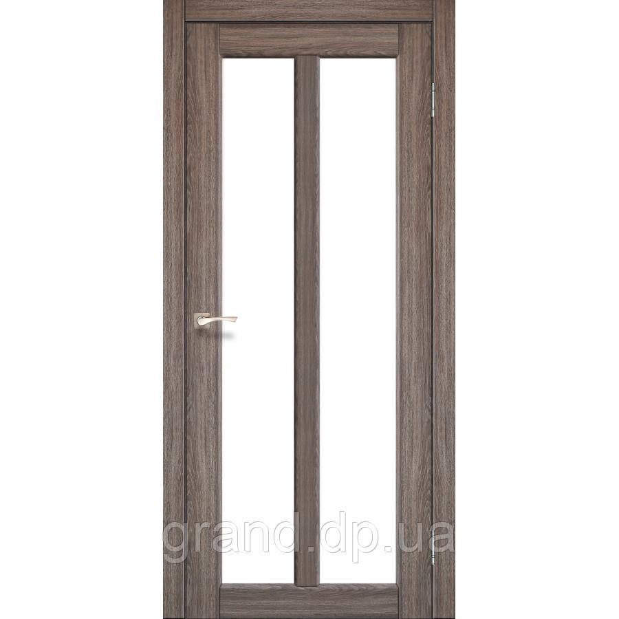 Двери межкомнатные Корфад TORINO Модель:TR-02 дуб грей c матовым стеклом