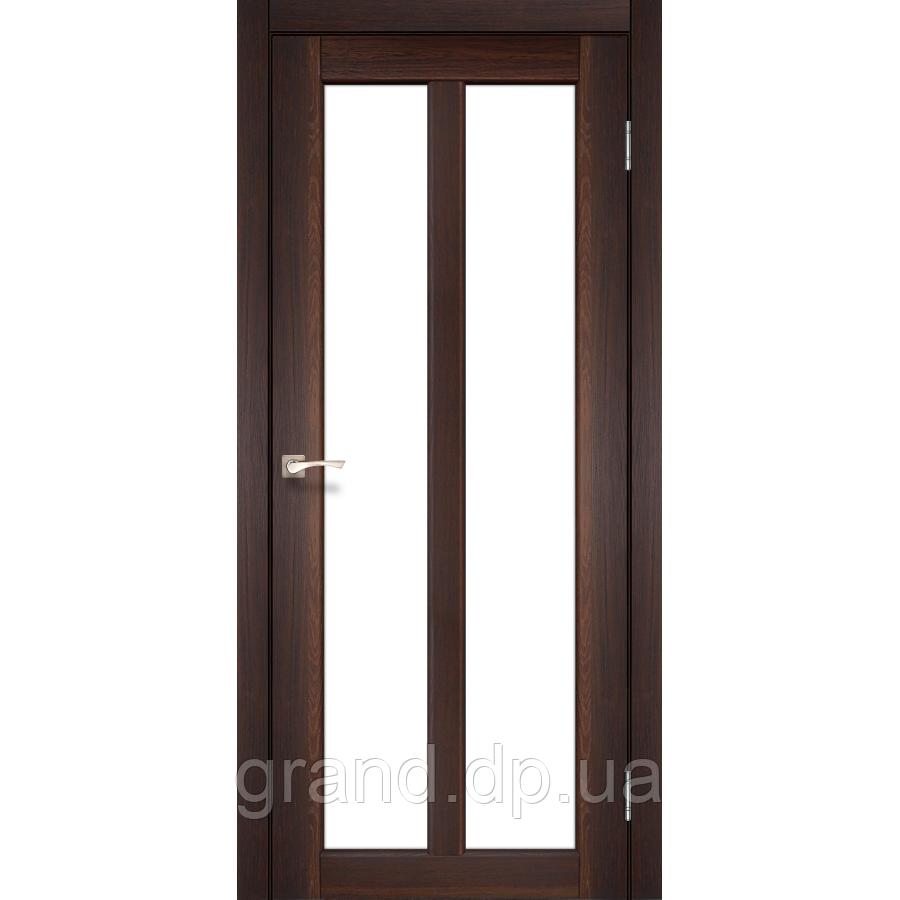 Двери межкомнатные Корфад TORINO Модель:TR-02 орех c матовым стеклом