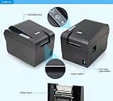 Принтер етикеток Xprinter XP-235B Black (XP-235B), фото 4